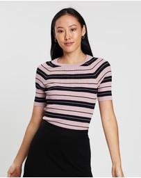 SABA - Aria Stripe Rib Knit Top