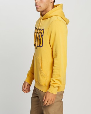 Mitchell & Ness Retro Blur Hoodie   Lakers - Hoodies (Lakers Fade Yellow)
