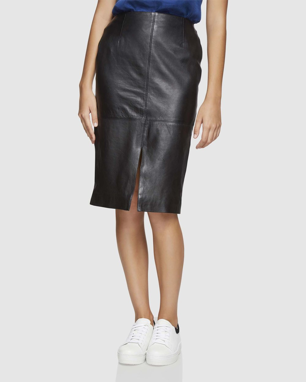 8db50c1ed9 Darby Leather Pencil Skirt