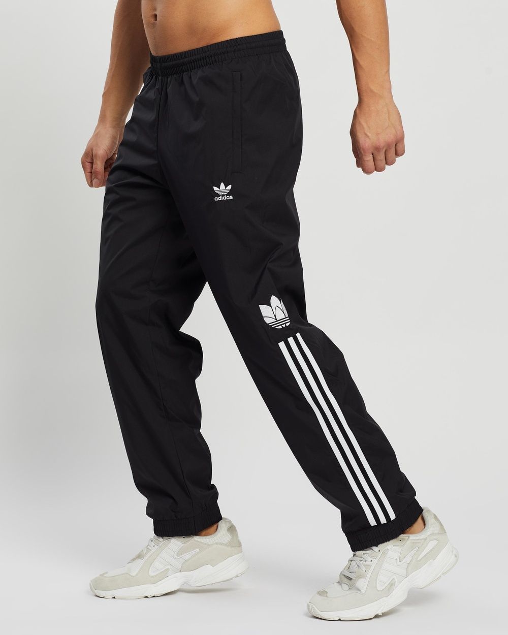 adidas Originals Adicolor 3D Trefoil 3 Stripes Track Pants Black 3-Stripes
