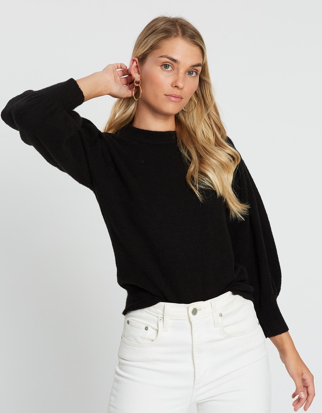 Atmos&Here - Leila Puff Sleeve Knit Top