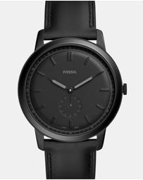 Fossil - The Minimalist-Mono Black Analogue Watch