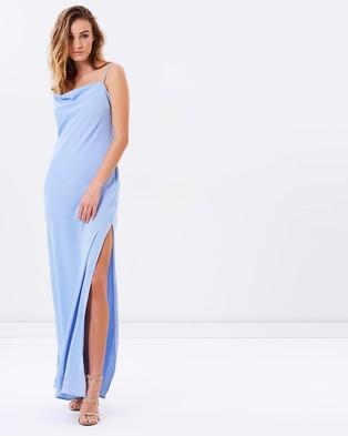Keepsake the Label – Needed Me Maxi Dress – Bridesmaid Dresses (Pastel Blue)