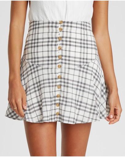 The Fated Minette Mini Skirt Black Check