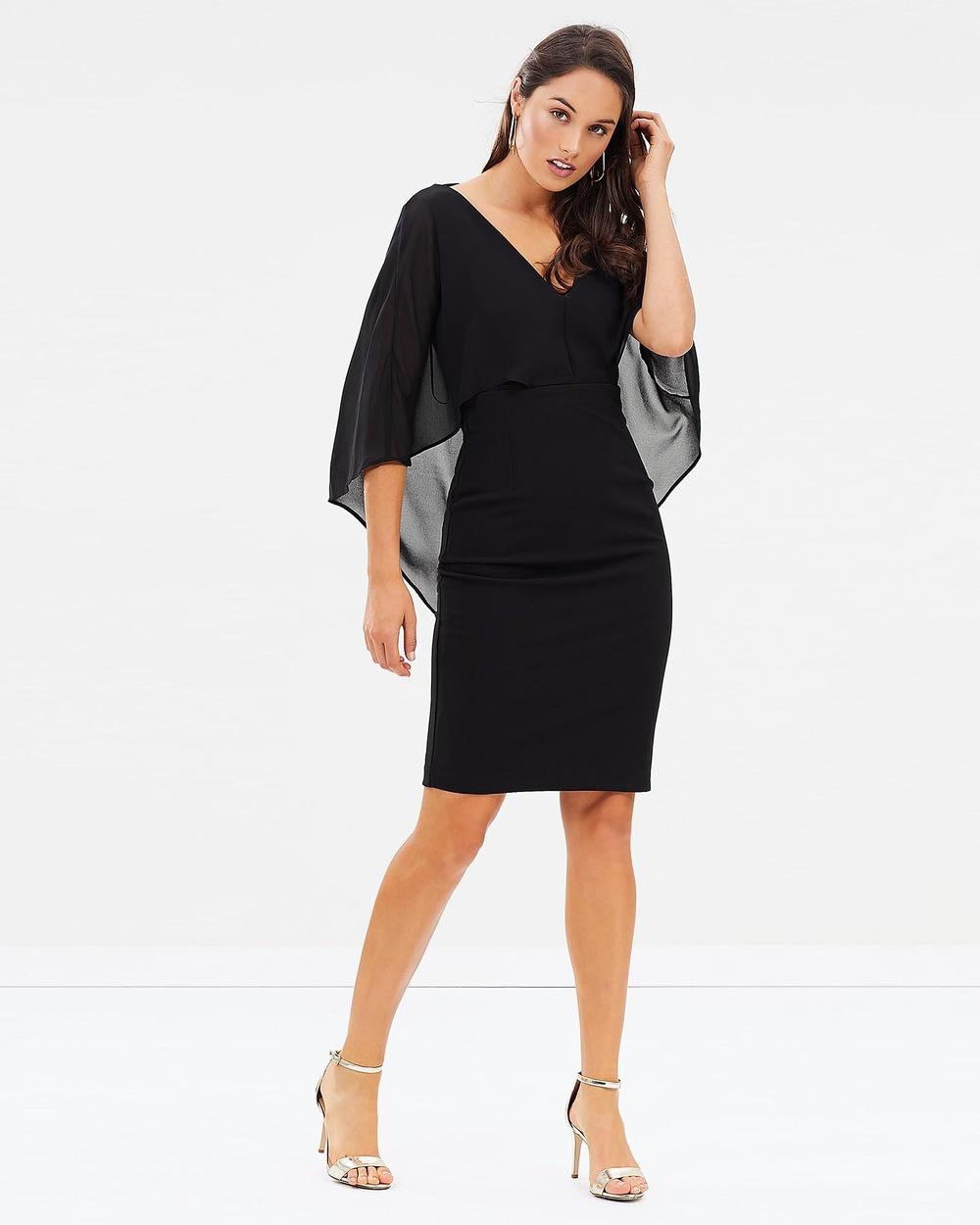 Montique Envy Cocktail Dress Dresses Black Envy Cocktail Dress