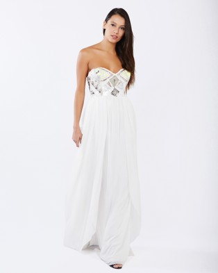 PIZZUTO – Miss Universe Gown – Bridesmaid Dresses (White)