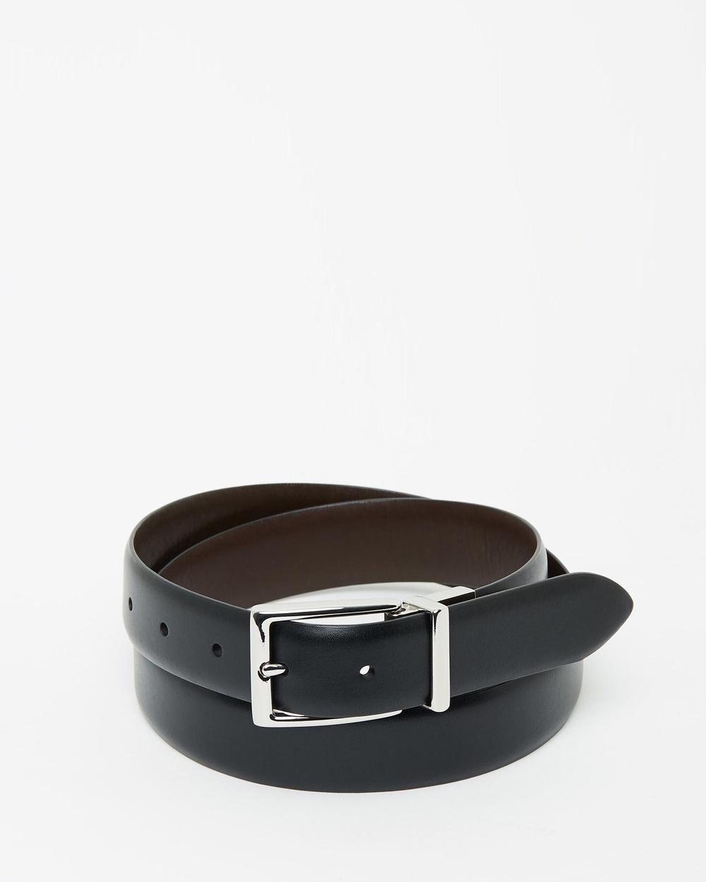 Polo Ralph Lauren Reversible Leather Belt Belts Black & Brown
