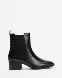 Atmos&Here - Felicity Leather Ankle Boots