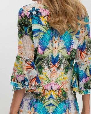 Aqua Blu Australia Odyssey Peplum Dress - Printed Dresses (Odyssey)
