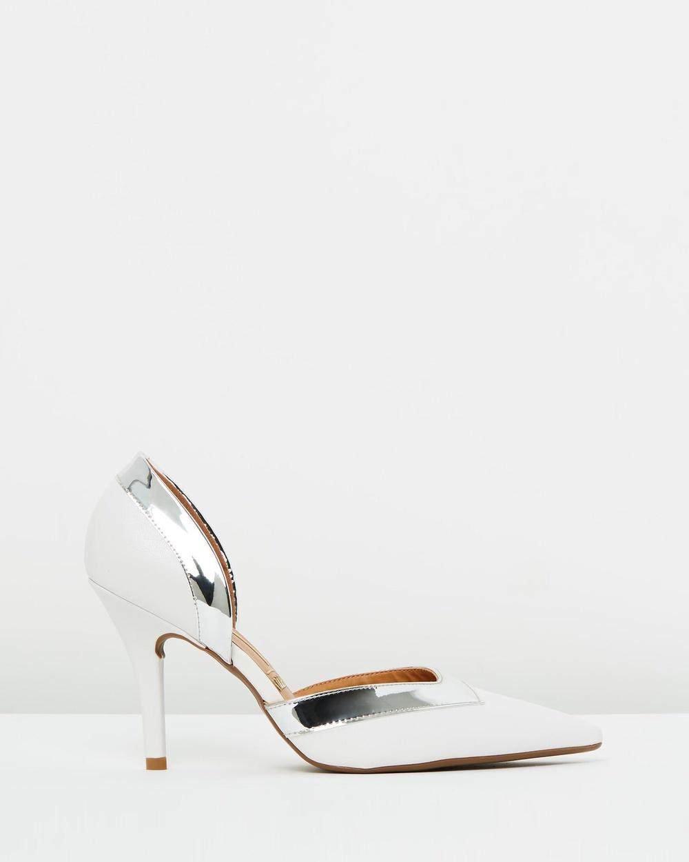 Vizzano Corina D'Orsey Heels All Pumps White Corina D'Orsey Heels
