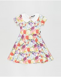 Rock Your Kid - Blooming Love SS Peter Pan Waisted Dress - Kids