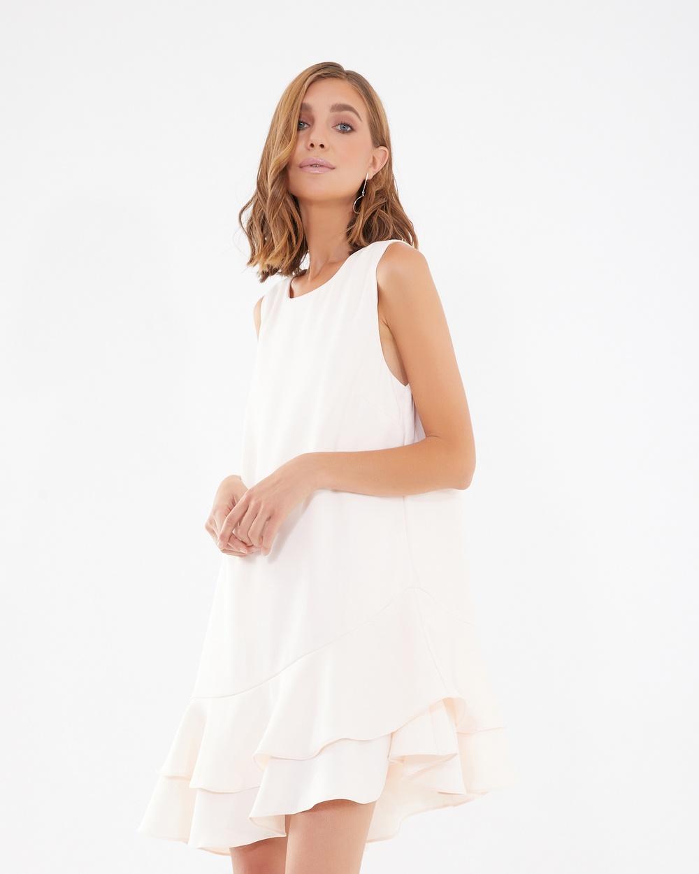 Calli Melina Frill Hem Dress Dresses Blush Melina Frill-Hem Dress