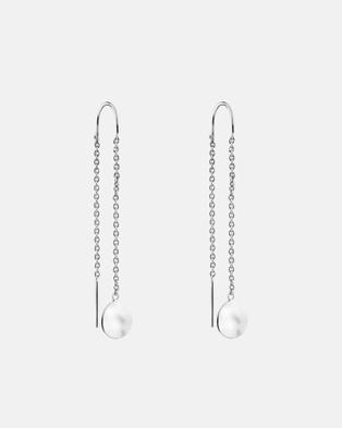 Najo Double Beat Thread Earrings - Jewellery (Silver)