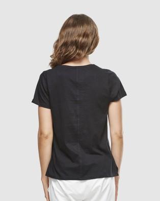 Cloth & Co. - Organic Cotton Classic V Neck - Short Sleeve T-Shirts (Black) Organic Cotton Classic V Neck