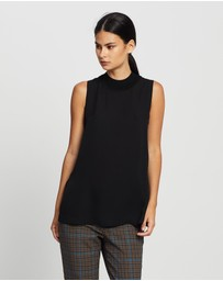 Theory - Rib Detail Mock Neck Shell Top