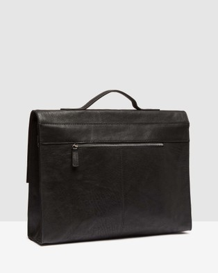 Oxford Ryland Leather Messenger Bag - Bags (Black)