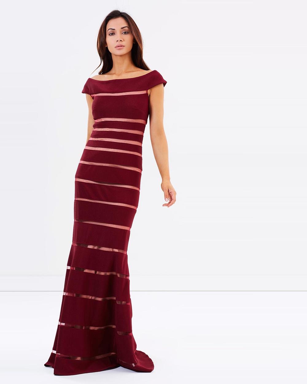 Montique Scarlett Gown Bridesmaid Dresses Wine Scarlett Gown