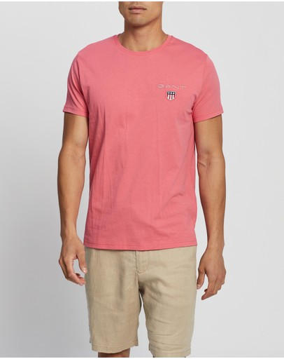 Gant Medium Shield Ss T-shirt Rapture Rose