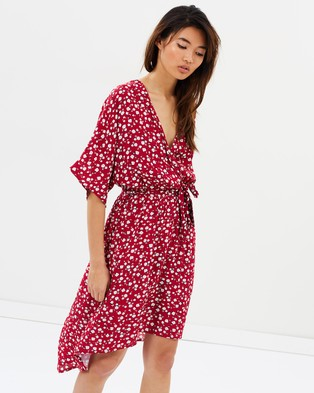 MINKPINK – Roses Are Red Ditty Midi Dress Multi