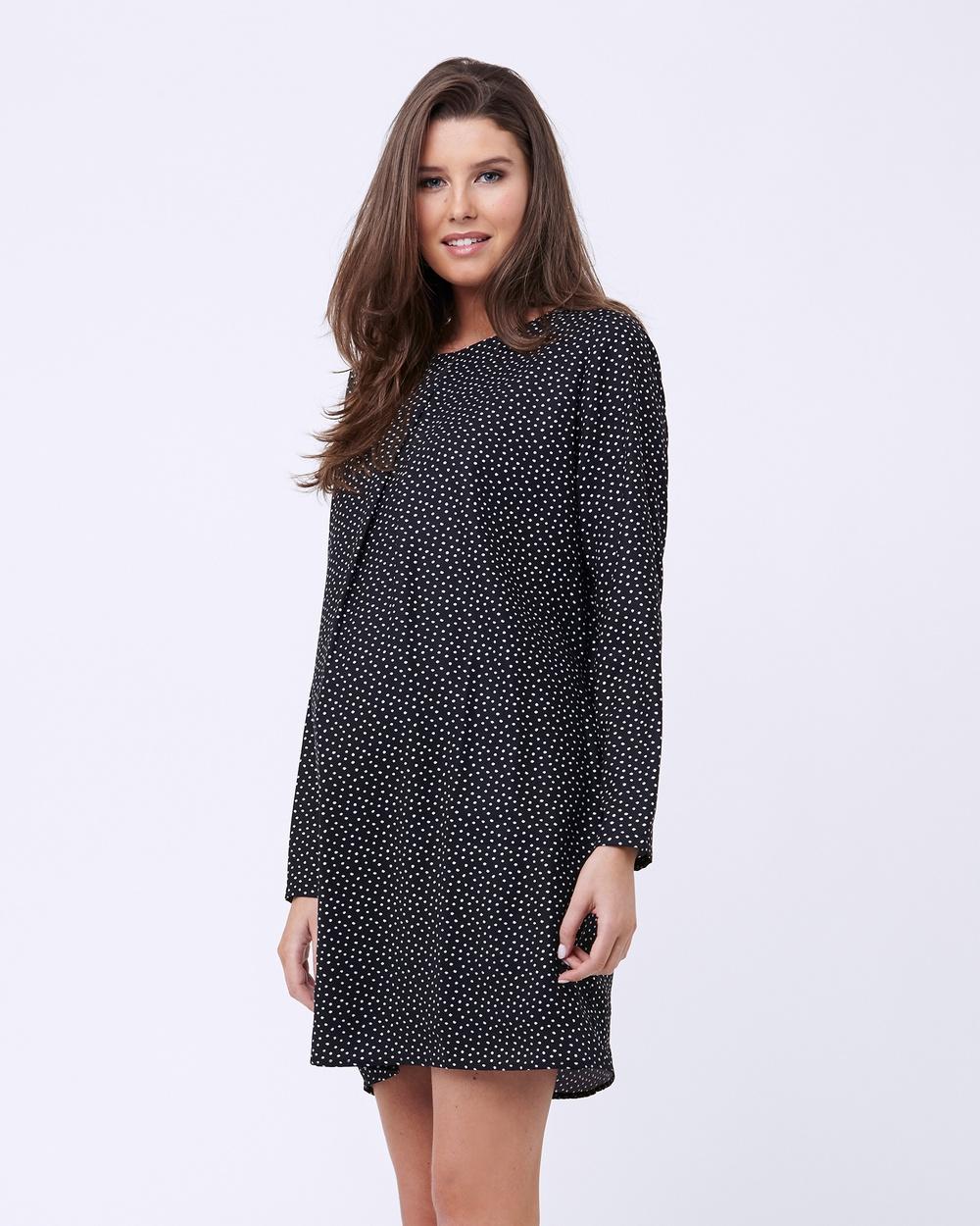 Ripe Maternity Spot Tunic Dress Dresses Stripe Print Spot Tunic Dress