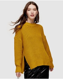 TOPSHOP - Split Side Fisherman Knitted Jumper