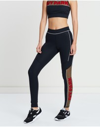 Ivy Park - Sheer Flocked Active Logo Leggings