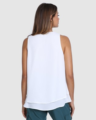 Madison The Label Klara Top - T-Shirts & Singlets (White)