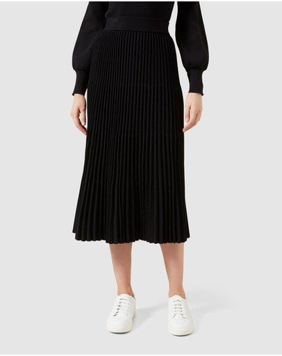 French Connection - Pleated Knit Midi Skirt