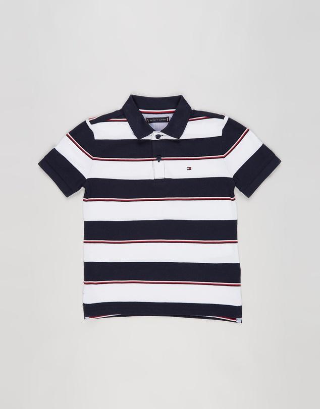 Kids Global SS Stripe Polo - Kids-Teens