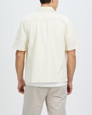 AERE Organic Twill SS Overshirt - Casual shirts (White)