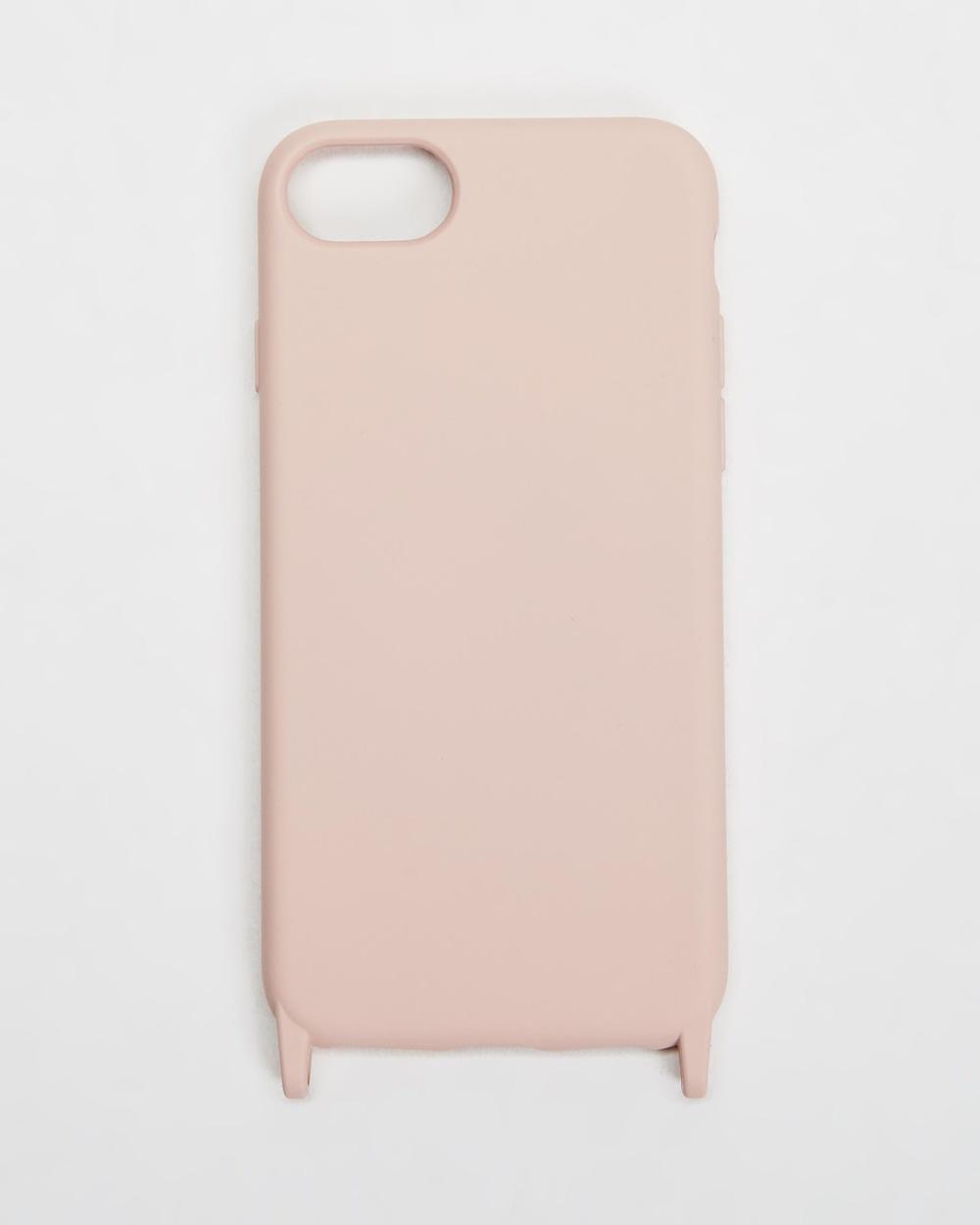 Chuchka Nylon Silicone Lanyard Phone Case Strap Tech Accessories Nude Pink