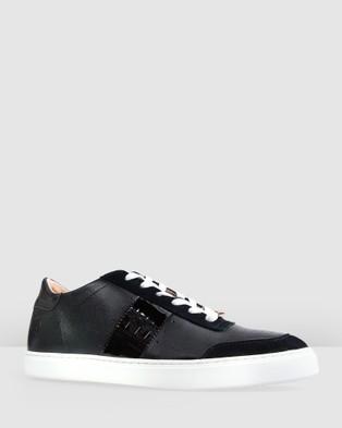 Bared Footwear - Skua Sneakers Women's Casual Shoes (Black & Croc)