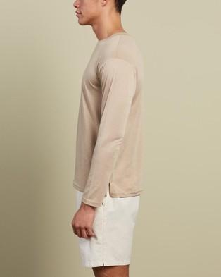 Justin Cassin - Pelour Long Sleeve Tee - T-Shirts & Singlets (Neutrals) Pelour Long Sleeve Tee