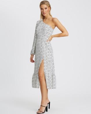 Tussah - Kendra Midi Dress - Printed Dresses (White Speckle Spot) Kendra Midi Dress