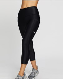Running Bare - Ab-Waisted Power Moves 3/4 Tights with Pockets