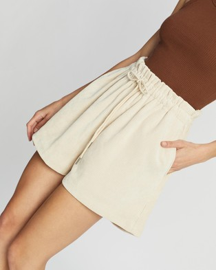 Dazie No Work All Play Corduroy Shorts - Clothing (Biege)
