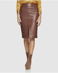 Oxford - Darby Leather Pencil Skirt