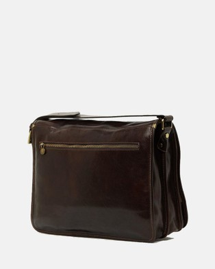 Republic of Florence The Nero Messenger - Satchels (Chocolate)