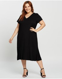 Atmos&Here Curvy - Lovise Midi Dress