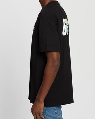 Guess Originals Go SS Guess Flag Logo Tee - T-Shirts & Singlets (Jet Black)