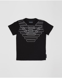 Emporio Armani - T-Shirt With EA Logo Detail - Kids-Teens