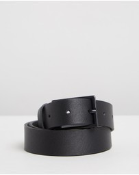 HUGO - Leather Belt with Matte Hardware