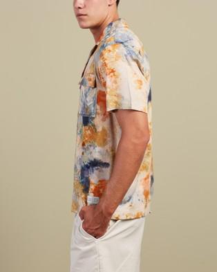 Scotch & Soda Hawaii Fit All Over Printed Viscose Short Sleeve Shirt - Shirts & Polos (Combo A)
