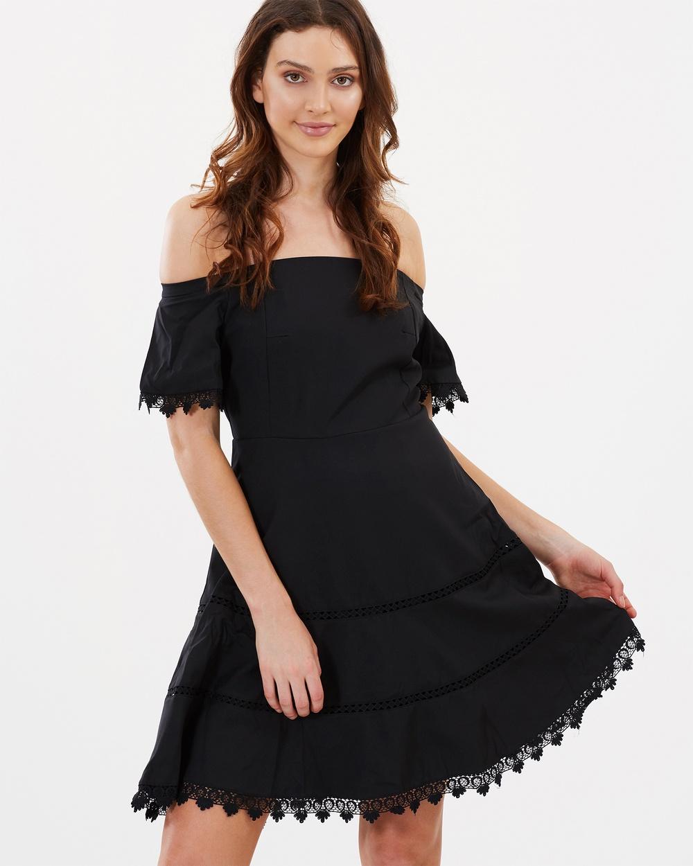 ROXCIIS Bella Off The Shoulder Cocktail Dress Dresses Black Bella Off The Shoulder Cocktail Dress