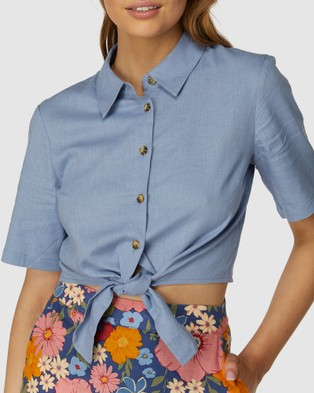 Princess Highway Anastasia Blouse - Tops (Blue)