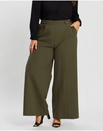 Atmos&Here Curvy - Giselle Wide Leg Pants