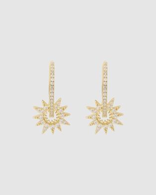 Wanderlust + Co Sunlit Hoop Gold Earrings - Jewellery (Gold)