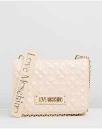 LOVE MOSCHINO - Quilted Square Shoulder Bag