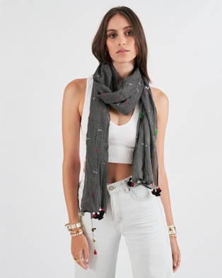 Arms Of Eve Santiago Linen Scarf - Scarves & Gloves (Charcoal)