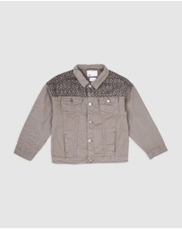 Cotton On Kids - Emmy Spliced Trucker Jacket